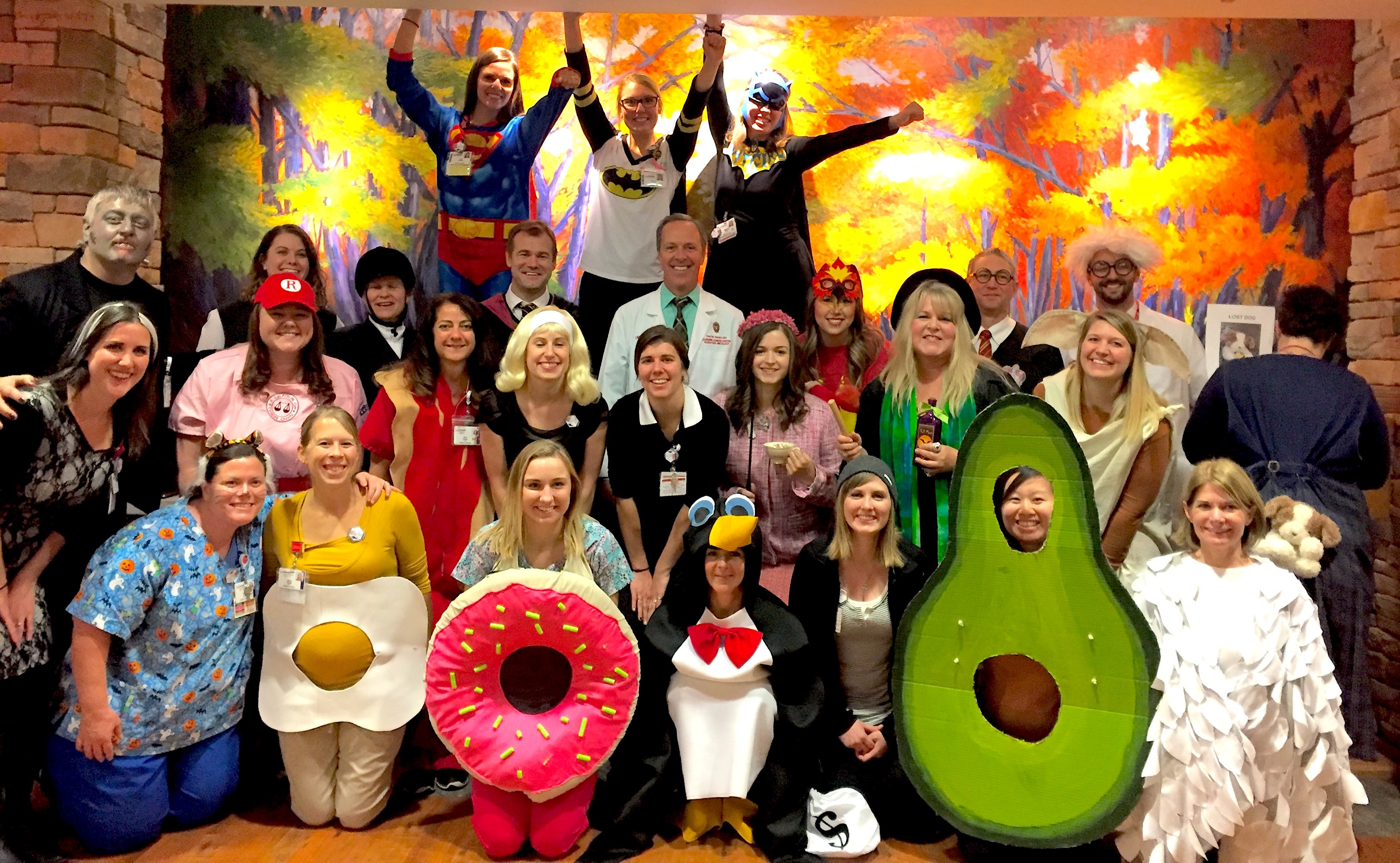 UW Radiation Oncology staff dressed for Halloween