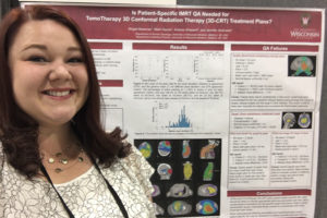 Abigail Besemer with poster presentation at AAPM 2017 Annual Meeting, July 2017