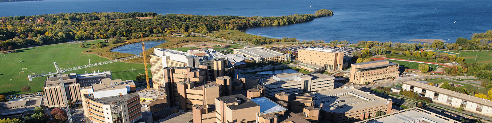The medical area of the western side of the University of Wisconsin-Madison