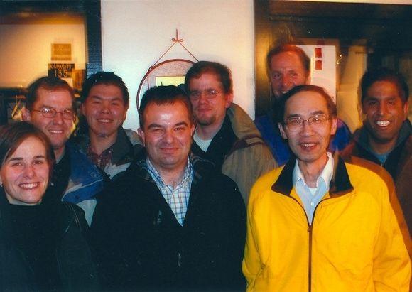 Corey, Greg, KT, Sergio, Eric, Paul, Shyhmin, Vinai_-- Sergio Farewell dinner
