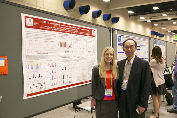 AACR 2014: Lauryn Werner, Shyh-min Huang at poster presentation