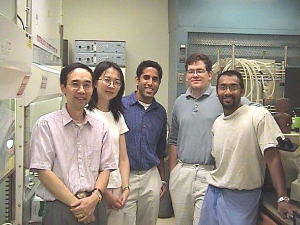 2002 Harari lab photo: Shyhmin Huang, Jing Li, Vinai Gondi, Eric Armstrong, Prakash Chinnaiyan