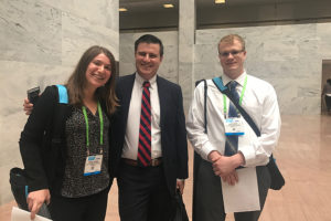 Rachel Orbuch, Adam Swick and Austin Maas at AACR meeting