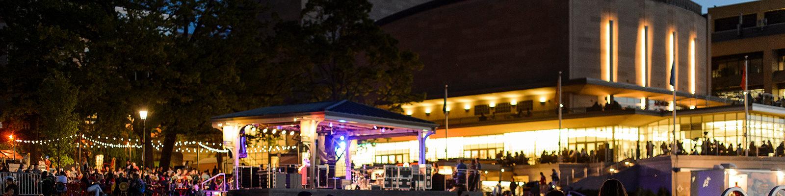 Memorial Union Terrace at night