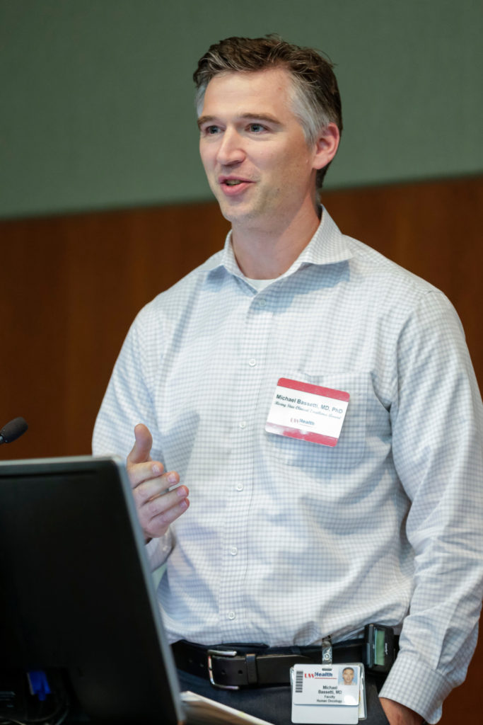 Dr. Michael Bassetti talking at 2018 UW Health Physicians Excellence Awards presentation
