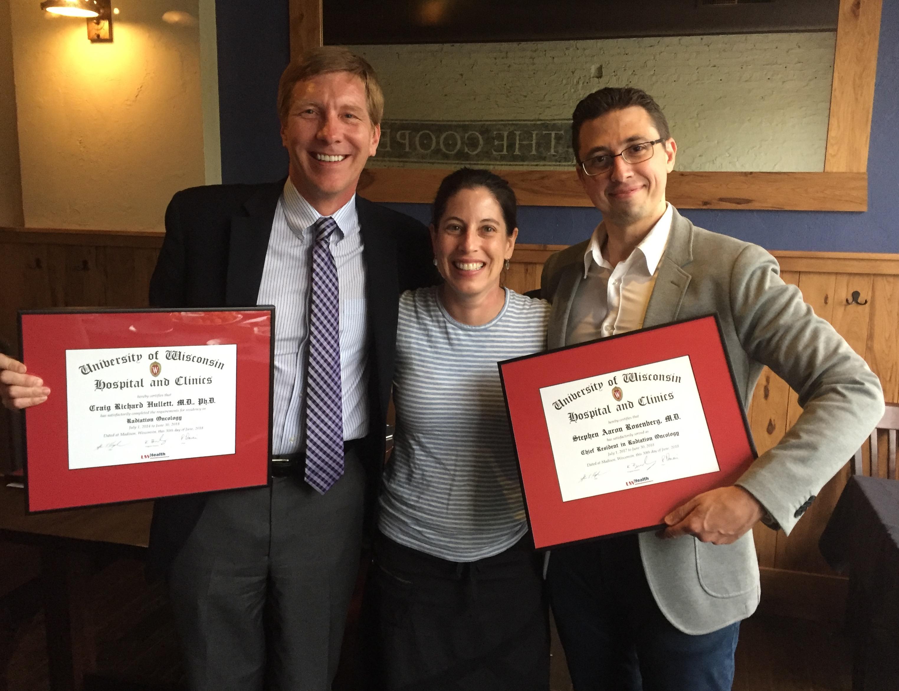 Dr. Craig Hullett, Dr. Kristin Bradley, Dr. Stephen Rosenberg