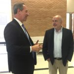 DHO Chairman Dr. Paul Harari talks with U.S. Rep. Mark Pocan.