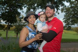 UW Radiation Oncologist Matt Witek and family at 12th Annual Heads Up! Golf Fundraiser 2018