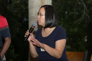 Dr. Rong Hu, UW Head and Neck Cancer Pathologist, speaks at 12th Annual Heads Up! Golf Fundraiser 2018