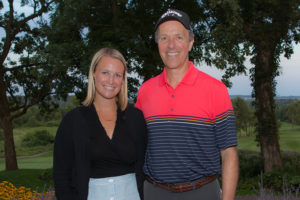 Jill Schmitz and Paul Harari at 12th Annual Heads Up! Golf Fundraiser 2018