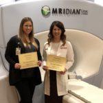 Tera Kruser, UW Health dosimetrist , and Dr. Kate Mittauer, DHO staff physicist