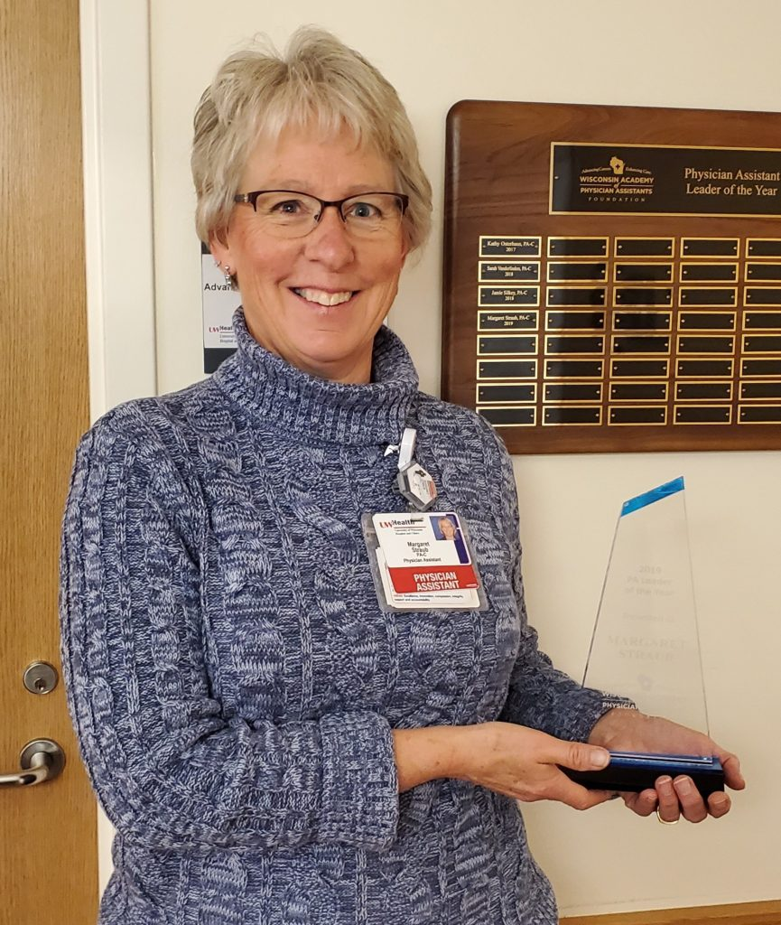 Margaret Straub, Physician Assistant in the Department of Human Oncology, 2019 PA of the Year