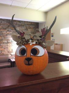 2019 pumpkin decorated at deer