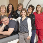 UW Health radiation therapists Dan Steinhoff, Lori Schmitz, Lisa Rindy, Theresa Breunig, Mary Fink, Cathy McMahon and Melodie Corcoran