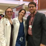 Drs. Kuczmarska-Haas, Grace Blitzer, and Jeremy Kratz at the 2020 UW Carbone Cancer Center Research Retreat