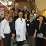 Wolfe family with Department of Human Oncology Chair Dr. Paul Harari
