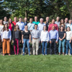outdoor group photo of attendees of the 2021 Department of Human Oncology Research Retreat